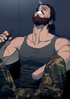 Im Giselle. I like art and junk. Metal Gear V, Snake Metal Gear, Metal Gear Solid Series, Metal Gear Rising, Cooler Stil, Character Art, Character Design, Snake Art, Gear Art