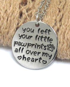 WHOLESALE PET LOVERS MESSAGE PENDANT NECKLACE - LITTLE PAW PRINTS ALL OVER MY HEART 419083