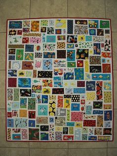 I Spy quilt: Another wonderful idea, almost completely appliqued AND would fit some of my odd-shaped scraps much better... Hmmm....