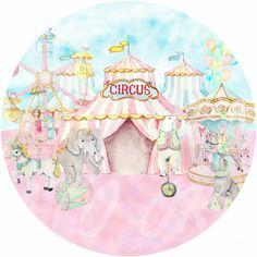 Circus Birthday, Circus Theme, Circus Party, 3rd Birthday Parties, Baby Birthday, Edible Printing, Girl Baby Shower Decorations, Carnival Themes, Mermaid Cakes