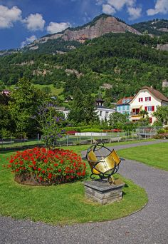 Vitznau Promenade with views of the Rigi, Switzerland