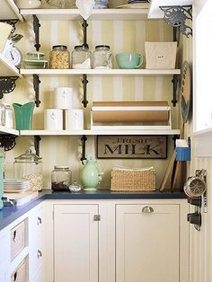Try this green with the kitchens blue counter tops,