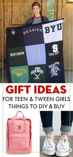 Gift ideas for teenage girls. Lots of cute ideas for DIY gifts for teens and gifts to buy for teens. #gifts