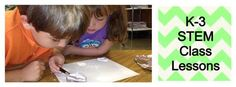 K-3 STEM lessons including ppts, flipcharts, and student sheets... ALL FREE! #stem #elementary