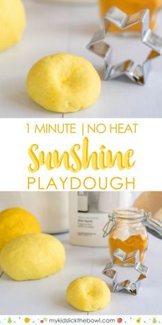 Playdough recipe, 1 minute, no cook, no salt, 3 ingredient playdough