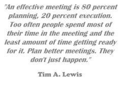 Client Meetings Are NOT Social Events (Oct. 22, 2014): Salespeople use goals and agendas to ensure their meetings are productive. it is very easy to spend time on social topics and achieve little in a meeting.