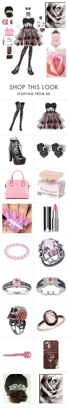 """Fresh Bloom"" by karlielove2party ❤ liked on Polyvore featuring Pierre Mantoux, Ruby Prom, Jeffrey Campbell, Effy Jewelry, Dolce & Gabbana Fragrance, Givenchy, Bling Jewelry, Arya Esha, Miadora and Wing Ho"