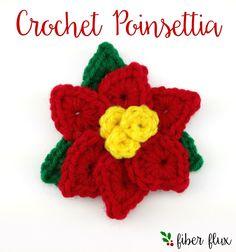 Free Crochet Pattern! Crochet Holiday Poinsettia...