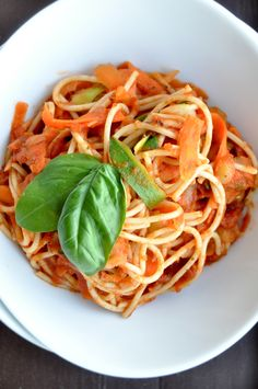 3-color vegetable pasta with sun dried tomato sauce.