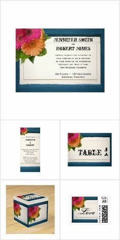 Rustic Country Painted Wood Wedding Teal Paint, Wedding In The Woods, Invitation Set, Painted Wood, Painting On Wood, Reception, Rustic, Country, Wedding Ideas