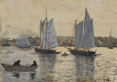 Winslow Homer - Two Schooners, Gloucester,1880