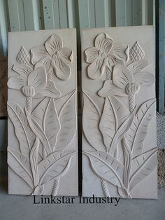 The 3d sandstone tile with flower pattern can be laid as an eye-catching wall background that creates a striking three dimensional optical effects. www.linlinstone.com www.facebook.com/Linkstarindustry