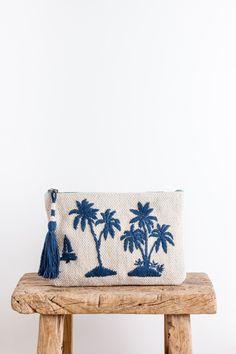 cute palm clutch