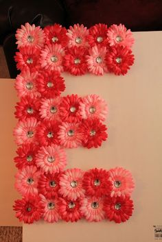 Getting There: DIY: Foam Board Flower Letters