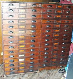 Vintage Steel Equipto Hardware Cabinet Industrial Drawer - Parts cabinets