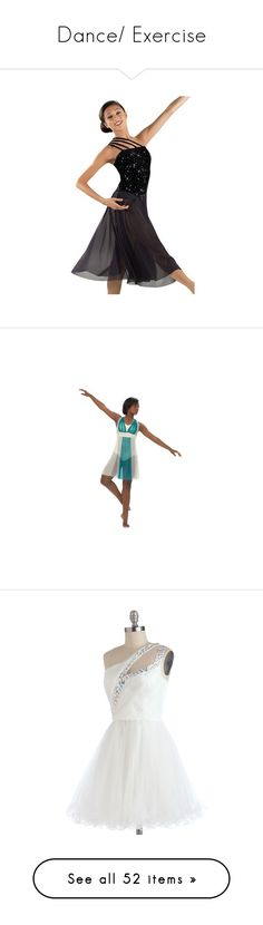 """""""Dance/ Exercise"""" by milah-monroe ❤ liked on Polyvore featuring dresses, dance, glitter dress, lining dress, crepe dress, long length dresses, over the shoulder dress, ruching dress, sheer dress and lined dress"""