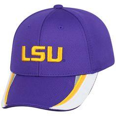 8512a842b58 LSU Tigers Nike Canvas Arch Wordmark Swoosh Flex Hat - Purple  LSUTigers