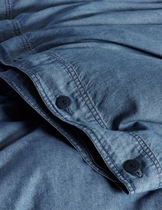 We've made our Bed Jeans in Melbourne since Just like your favourite pair of jeans, this lightweight, authentic denim set only gets comfier over time. Unlike your favourite jeans, you don't have to undo the top button after too much birthday cake. Denim Comforter, Duvet, Bedding, Bedroom Ideas, Bedroom Decor, Quilt Cover Sets, Spring Home, First Home, Pillowcases
