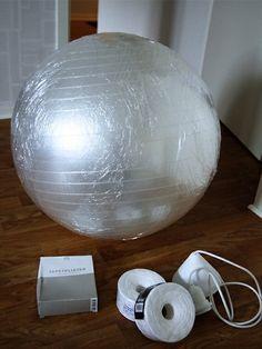 Haz una moderna lámpara de hilo