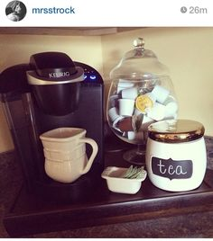 great idea for keurig storage. Put on the coffee bar with an.espresso machine and teas.and everything