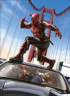 #Deadpool #Fan #Art. (Deadpool) By: Caiocacau. ÅWESOMENESS!!!™ ÅÅÅ+