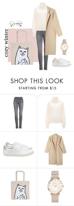 """""""cozy winter"""" by yucksie on Polyvore featuring AG Adriano Goldschmied, Mara Hoffman, RIPNDIP and ROSEFIELD"""