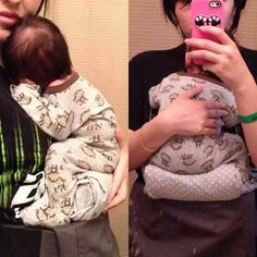 Rolled Blanket Trick for Babywearing Newborns! Keeps weight off of their feet and in the M position!!
