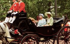 June 16, 1990 - Princess Diana, The Queen Mother, Prince Harry, Trooping the Colour