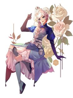 Manga Anime, Rwby Anime, Rwby Fanart, Rwby Characters, Fictional Characters, Rwby Weiss, Rwby Red, Arte Sailor Moon, Aesthetic Drawing