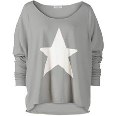Knit Star Sweater ($165) ❤ liked on Polyvore featuring tops, sweaters, shirts, blusas, haut, knit sweater, star shirt, oversized tops, over sized shirts and star print top