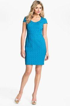 Adrianna Papell New Jacquard Sheath Dress. Free shipping and guaranteed authenticity on Adrianna Papell New Jacquard Sheath DressNote - the color is like the 1st 2 pics, my camera...