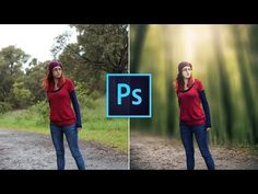 Photoshop CC Tutorial: How to change background (girl) - YouTube