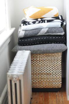 blankets.