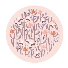 Floral illustration by Laurence Lavallée aka Flo Floral Illustrations, Pattern Art, My Arts, Artist, Artists, Flower Artwork