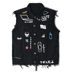 XXXX Denim vest ($58) ❤ liked on Polyvore featuring men's fashion, men's clothing, men's outerwear, men's vests, mens vest, mens vests outerwear and mens denim vest