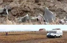 UFO - Unidentified Flying Object falls from heaven and Explode About Russian City