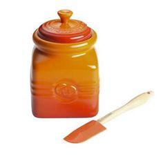 Le Creuset Marmalade Jar And Spoon - Volcanic at eCookshop