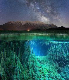Half underwater, half above water https://plus.google.com/+KevinGreenFixedOpsGenius/posts/Sda9qfbrpsL