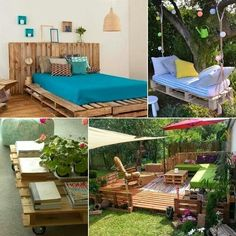 I love Pallet furniture! My house is gonna be full of pallet furniture :D Recycled Furniture, Pallet Furniture, Home Furniture, Outdoor Furniture Sets, Furniture Ideas, Outdoor Sofa, Outdoor Living, Outdoor Decor, Palette Deco