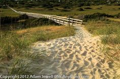 One Of The Two Boardwalks From The Frisco, NC National Park Campground Out To The Beach