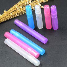 10 stks Reizen Draagbare Parfumflesje Spray Flessen Lege Cosmetische Containers 5 ml/10 ml Parfum Lege Verstuiver Plastic Pen M02964