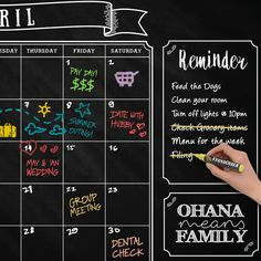 Chalkboard Wall Calendar It's the perfect way to stay organized, while adding chalky decor to your home or kitchen. The ultra-premium, American made quality of our calendar sets this calendar above the rest