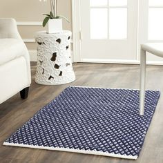 Amherst Hand-Woven Navy Area Rug