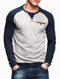 a6d3c2a0e Daily Gray Crewneck Color Block Polyester T-Shirt For Man · Latest Mens  FashionMen ...