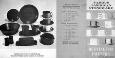 Bennington dinnerware brochure 1968 from modish.net Bennington Pottery, Modern Dinnerware, Stoneware, Cool Designs, David, Ceramica