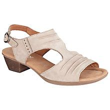 54d066d970c Buy Gabor Scrumptious Wide Fit Nubuck Sandals Online at johnlewis.com  Sandals Online