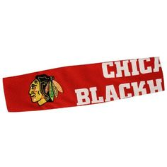 """NHL Chicago Blackhawks FanBand Headband by Little Earth. $7.85. Made from authentic NHL jersey material and featuring an embroidered patch of your favorite team's logo, the FandBand headband, manufactured by Pro-FAN-ity by Littlearth, is the must-have accessory for any female fan. This headband is 2.5"""" wide, and its narrow elastic backing makes it one size fits most.. Save 75%!"""