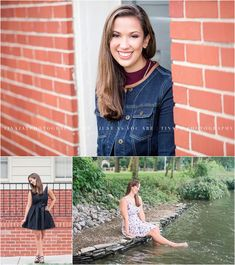 A beautiful urban and country senior portrait session with a variety of outfits. Photographed in Camp Hill Pennsylvania by Tina Jay Photography.