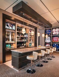 Bamboo Marble bar top for a Boca Raton residence game room « Marmol