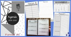 "Un agenda fait ""maison"" Version 2018-2019 Agenda Bullet, Bullet Journal, Writing, Education, School, Ainsi, Claire, Day Planners, Homemade Planner"
